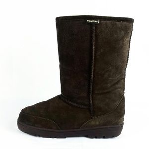 BearPaw Brown Leather Winter Boots Size 10